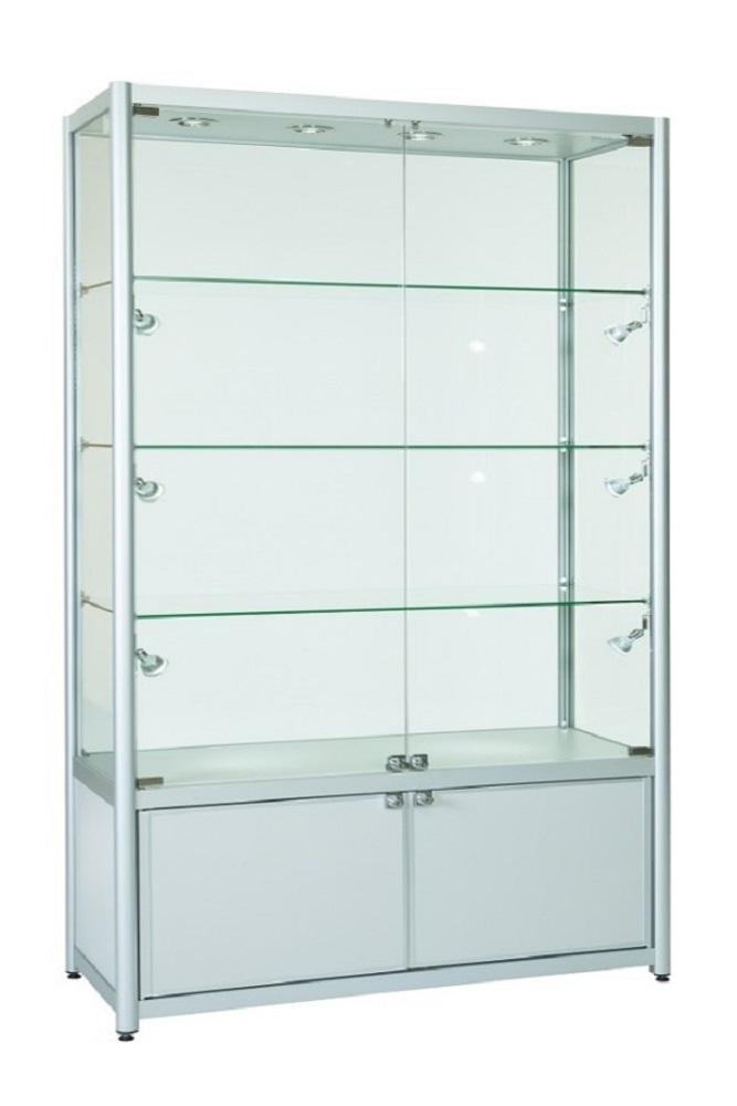 1200mm Full Glass Retail Glass Display Cabinets Storage