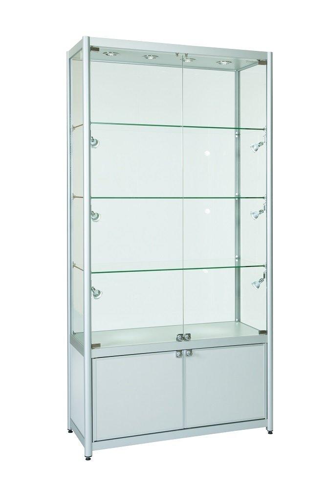 Aluminium Double Door Display Cabinets
