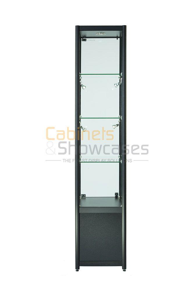 Aluminium Single Door Glass Display Cabinet With Lockable